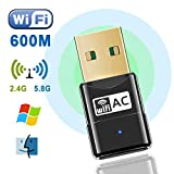 WiFi Adapter Viden 600Mbps USB WiFi Dongle Mini Dual Band 2.4G/5G Wireless Network