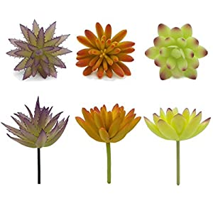 Artificial Succulent Plants & Flowers, Mixed Unpotted Fake Artificial Succulents Picks, Succulent Bouquet Aloe Agave Faux Succulent Floral Arrangement for Home Decor Indoor Wall Garden DIY Decorations 3