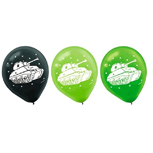 Camouflage Printed Latex Balloons, Party Favor ()