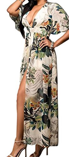 Pleated Maxi Chiffon Cromoncent Womens Waist Floral Green Dress Swing High Basic qnZn6w0P