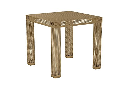 Novogratz Iconic Modern Metal End Table, Gold Review