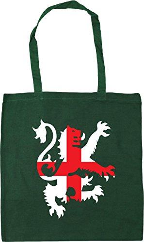 lion flag Beach litres x38cm Green 10 Bag Shopping Bottle Gym HippoWarehouse Football Tote 42cm england wS0t5a