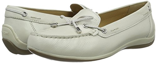 White white Mujer d6455a00043 Mocasines A Yuki Para D off Blanco Geox pqOzxvw