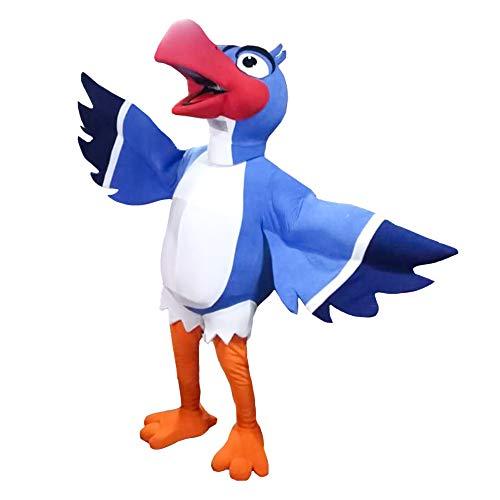 Zazu of The Lion King Character Costume Mascot Bird Cosplay Blue, White -