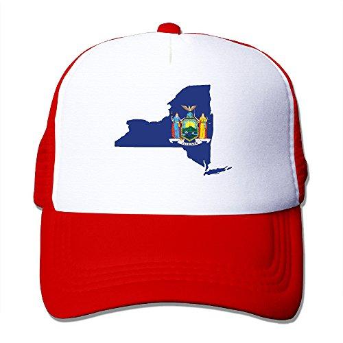 New York Map Flag Mesh Trucker Cap