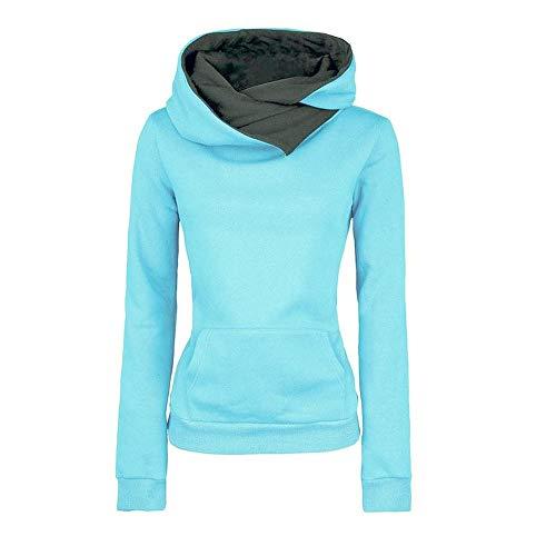 Teresamoon Women Long Sleeve Hoodie Sweatshirt Sweater Hooded Cotton Coat Pullover ()