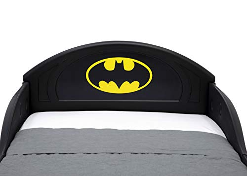 DC Comics Batman Batmobile Car Sleep and Play Toddler Bed with Attached Guardrails by Delta Children 5