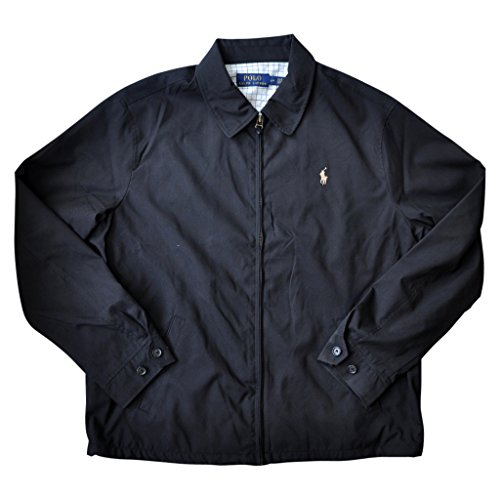 (Polo Ralph Lauren Mens Lightweight Microfiber Windbreaker Jacket (XXL, Polo Black))