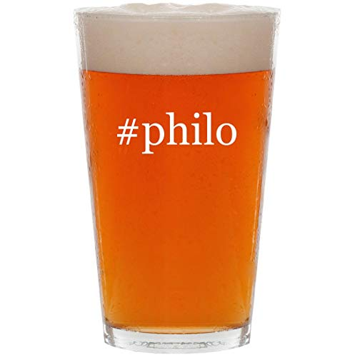 Byblos Glasses - #philo - 16oz Hashtag All Purpose Pint Beer Glass