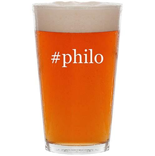 Glasses Byblos - #philo - 16oz Hashtag Pint Beer Glass