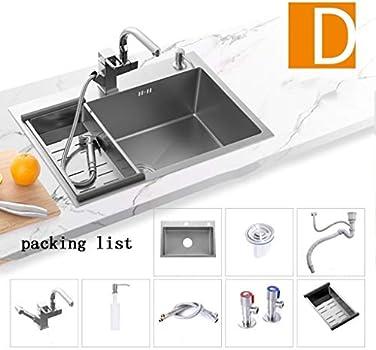 Kitchen Sinks Kitchen Sink Kitchen Cutlery Sink High End Kitchen Sink 304 Stainless Steel Sink Single Sink Sink Sink Thick Color Silver Size 60 45 22cm Buy Online At