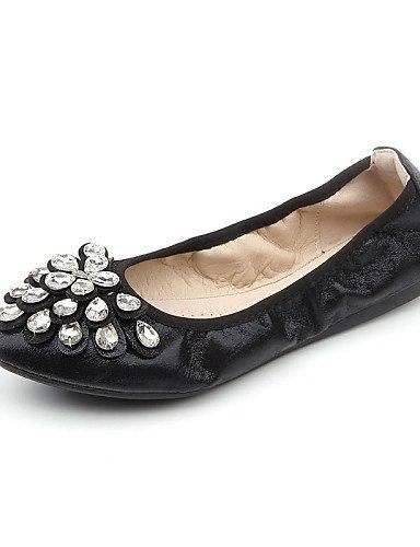 vestido al y eu39 mujer pisos piel negro carrera PDX de casual comodidad us8 plano libre plata oficina aire black de cn39 talón oro zapatos sintética uk6 v6avpwngq