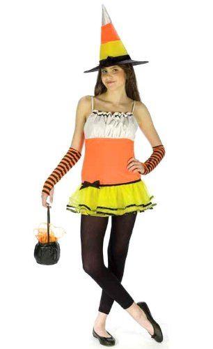 Teen Candy Corn Witch Costume - Juniors up to size 9  sc 1 st  Amazon.com & Amazon.com: Teen Candy Corn Witch Costume - Juniors up to size 9 ...