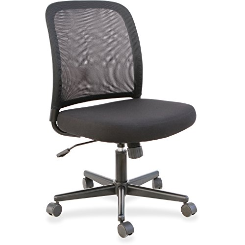 Lorell LLR83304 Mesh Armless Mid-Back Task Chair ()