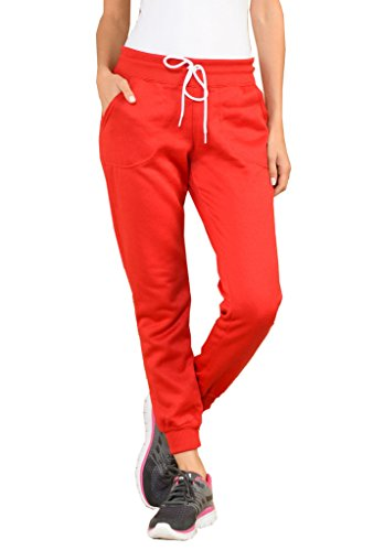 Red Womens Sweatpants - Gs-eagle Women's Plain Sweatpants XL Red
