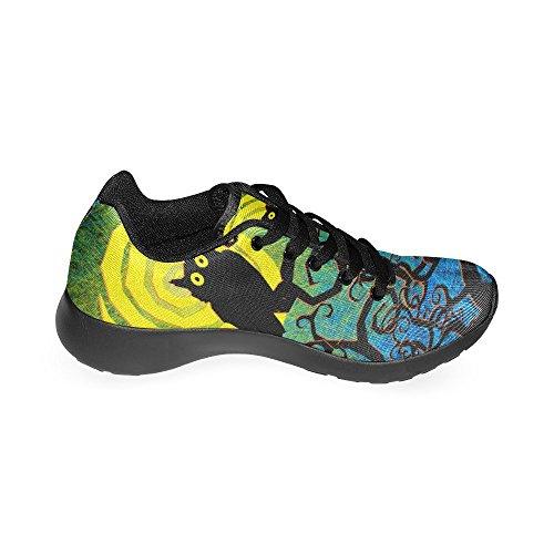 InterestPrint Womens Jogging Running Sneaker Lightweight Go Easy Walking Comfort Sports Athletic Shoes Grunge Halloween Night Background woSZrX