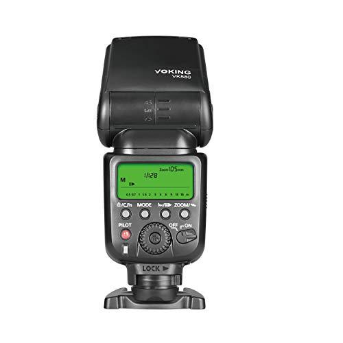 Voking VK580 Professional Master Slave E TTL Speedlite Flash Flash V580 for Canon EOS 70D 77D 80D Rebel T7i T6i T6s T6 T5i T5 T4i T3i SL2 and Other Eos Digital DSLR Camera with Standard Hot Shoe