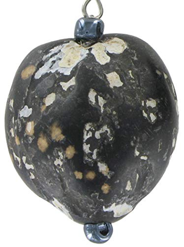 Pierced Natural Bead Nut Black White Earrings For Women Set