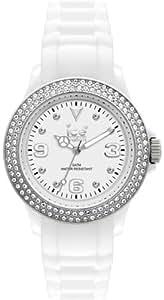 Ice-Watch Ice-Star - Reloj (Pulsera, Polyamide, Plata, Color blanco)