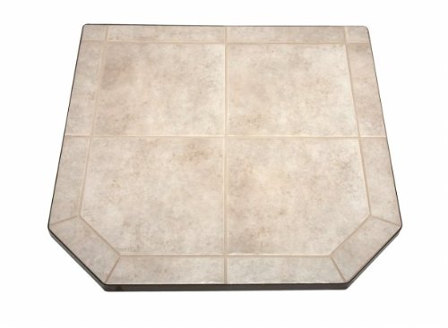 Chimney 49707 Carmel Tile Single Cut Corner Stove Board- 48 in. x 48 in. (American Panel Carmel Tile)