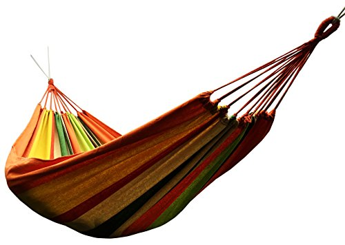 Honesh-Outdoor-Leisure-Double-2-Person-Cotton-Hammocks-450lbs-Ultralight-Camping-Hammock-with-backpack
