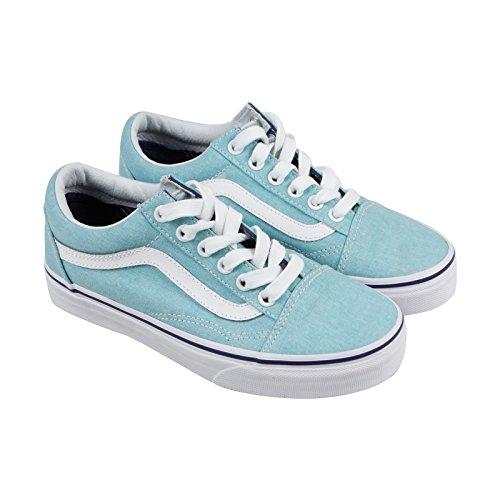 2813e047c483 Galleon - Vans VA38G1NA2 Unisex Washed Old Skool Skate Shoes, Blue Radiance/Crown  Blue, 3.5 M US