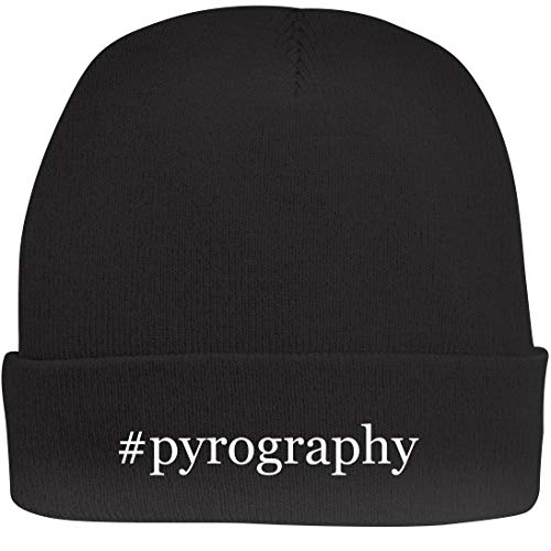 Shirt Me Up #Pyrography - A Nice Hashtag Beanie Cap, Black, OSFA