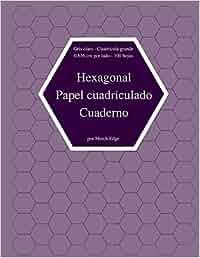 Hexagonal Papel cuadriculado Cuaderno Gris claro