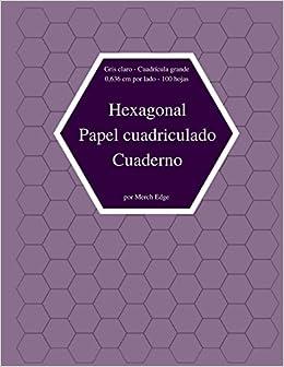Hexagonal Papel Cuadriculado Cuaderno Gris Claro Cuadricula Gran