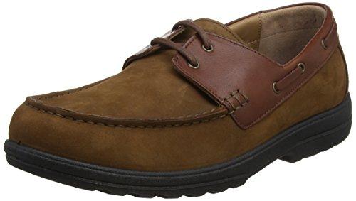 marrón claro para Piel de hombre Padders marrón marrón claro Náuticos wqYt01