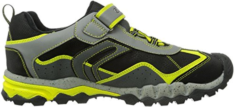 Geox Jr Mountain B Abx E, Boys' Low-Top Sneakers, Grey (C0666GREY/LIME), 2.5 UK (35 EU)