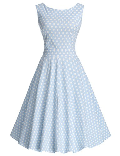 Buy light blue and white bridesmaid dresses - 6