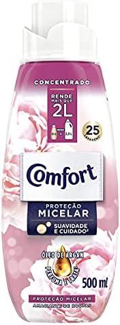 Amaciante Concentrado Comfort Proteção Micelar 500 Ml, Comfort, 500 Ml