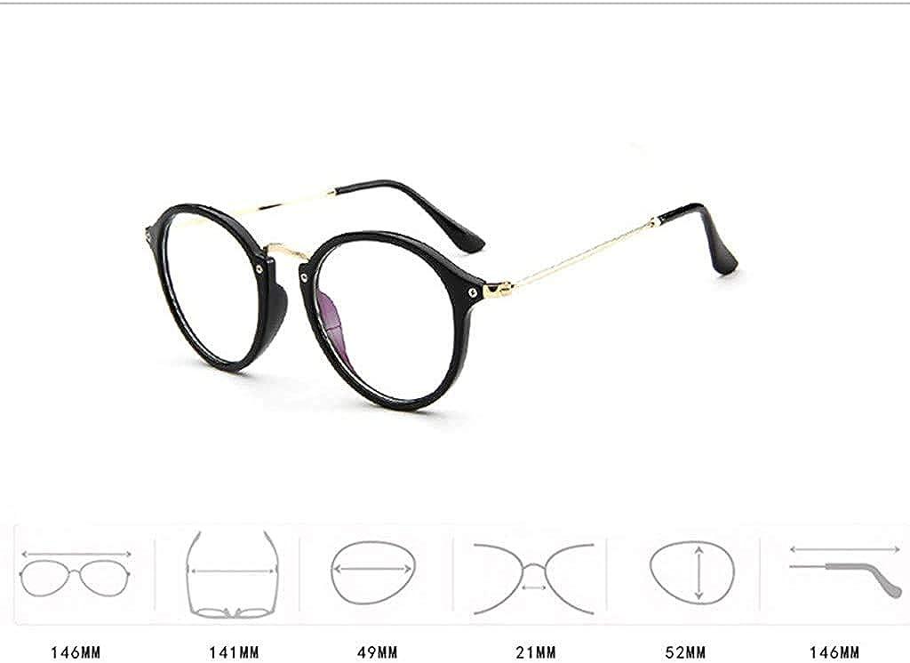 XGBDTJ Unisex Brille Elegant Flacher Spiegel Mode Living Runder Rahmen Brillengestell Brille Leopardenmuster-Brillengestell Aus Anti-Blaulichtbrille Farbe Mehrfache Farbauswahl