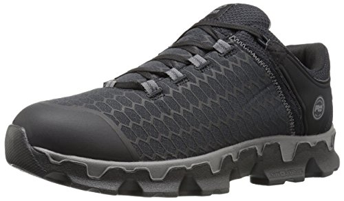 Timberland PRO Men's Powertrain Sport Soft Toe SD+ Industrial & Construction Shoe, Black Synthetic, 13 W US