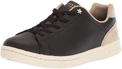 Skechers Womens Darma-Perforated Leather Sneaker