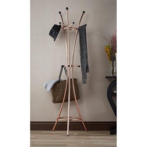 Furniture of America Felicia Contemporary Coat Rack in Rose Gold