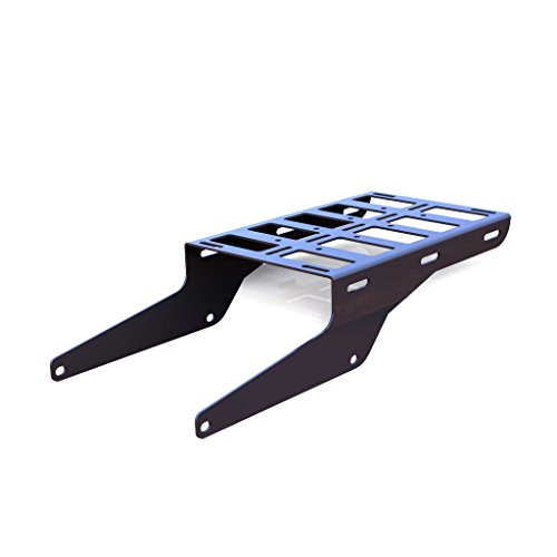 (Cargo Rack Luggage Carrier Utility Rear Tail Holder Gray Powdercoat fits: 92-07 Yamaha XT225 - Immix Racing - 100-003-gray)