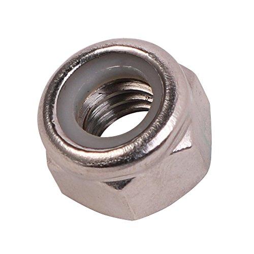 1/4-20 Nylon Insert Hex Lock Nuts, Stainless Steel 18-8, 100 PCS