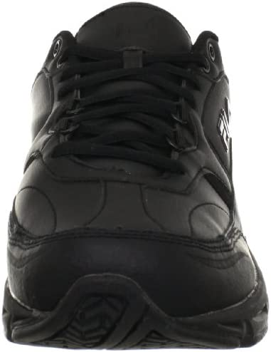 41b4TwgWy1L. AC Fila Men's Memory Workshift Slip Resistant Work Shoe    Feel comfortable without sacrificing performance and protection in your work day with the Fila Memory Workshift slip resistant safety shoe. Where premium meets utility, the Memory Workshift is constructed from durable leather and synthetic overlays to give you a dependable work shoe that meets your occupational needs. Our Fila Memory Workshift shoe features a rubber slip resistant outsole to provide traction against slick or wet surfaces – tested in accordance with the applicable industry standards, including: ASTM F2913-11. Though designed to help prevent slips, you should always exercise caution on slick surfaces.