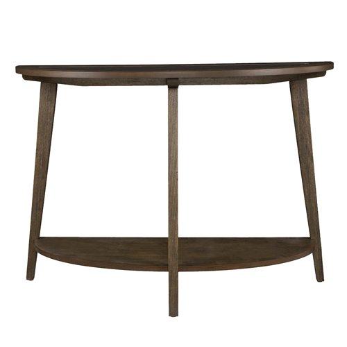 Console Oak Table Round Half (Southern Enterprises Chandler Demilune Console Table)