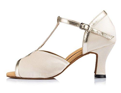 TDA - Zapatos con tacón mujer 7cm Heel Beige