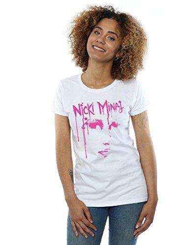 Nicki Minaj Women's Face Drip T-Shirt Large White