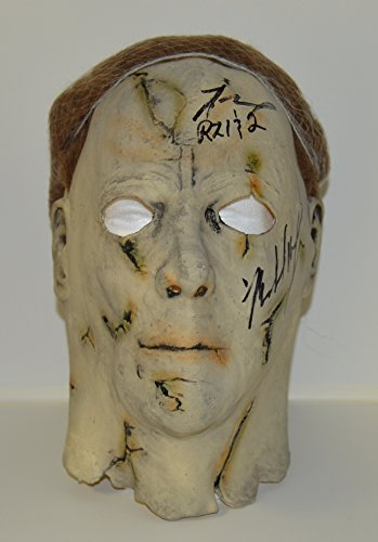 Tyler Mane signed Authentic Halloween Michael Myers Mask from Rob Zombie's Halloween I & II - Adult Mask