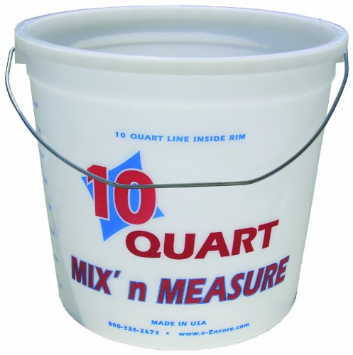 Mix N Measure Container - Encore 20325 10-Quart Mix and Measure Ringfree Pail with Wire Handle