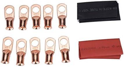 Terminal connector 10 PCS Copper Heavyduty koudgeperste Wire Terminals 4 x 38 met warmtekrimpbare buis AWG T2