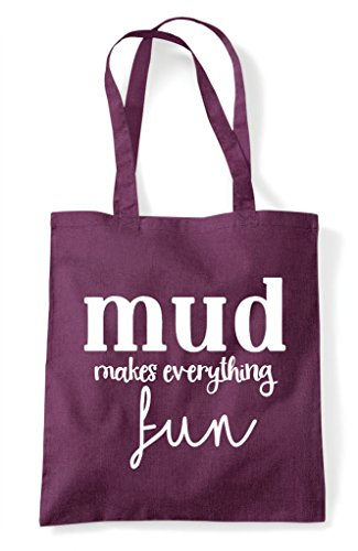Everything Statement Mud Tote Fun Makes Plum Bag Shopper 1qAABw