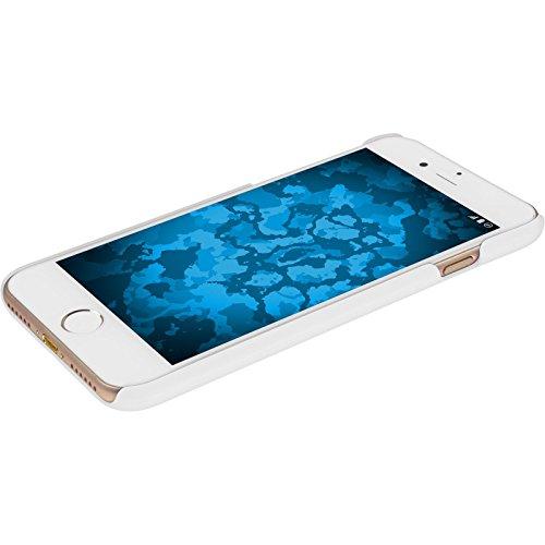 PhoneNatic Case für Apple iPhone 8 Hülle weiß gummiert Hard-case für iPhone 8 + 2 Schutzfolien