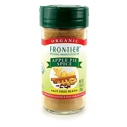 Frontier Natural Products Co Op Organic Apple Pie Spice Salt Free Blend 1 69 Oz Jar