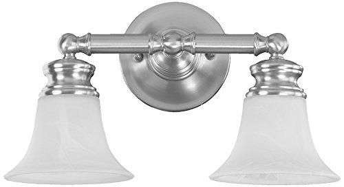 Quorum International 5474-2-65 Madison 2 Light Wall Bracket, Satin